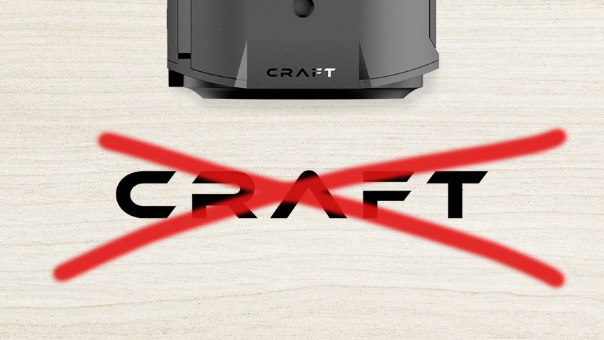 Die Craft Kamera ist eingestellt