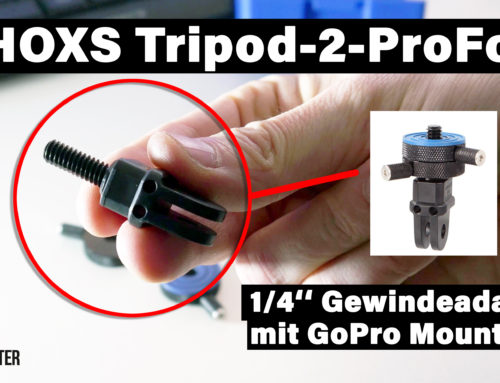 "Review: iShoxs Tripod-2-ProFork 1/4"" GoPro Adapter"
